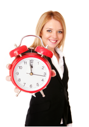 Lady with clock, Time Management training, reduce stress, more time, Mindstrengths, Kent, London, Lincolnshire