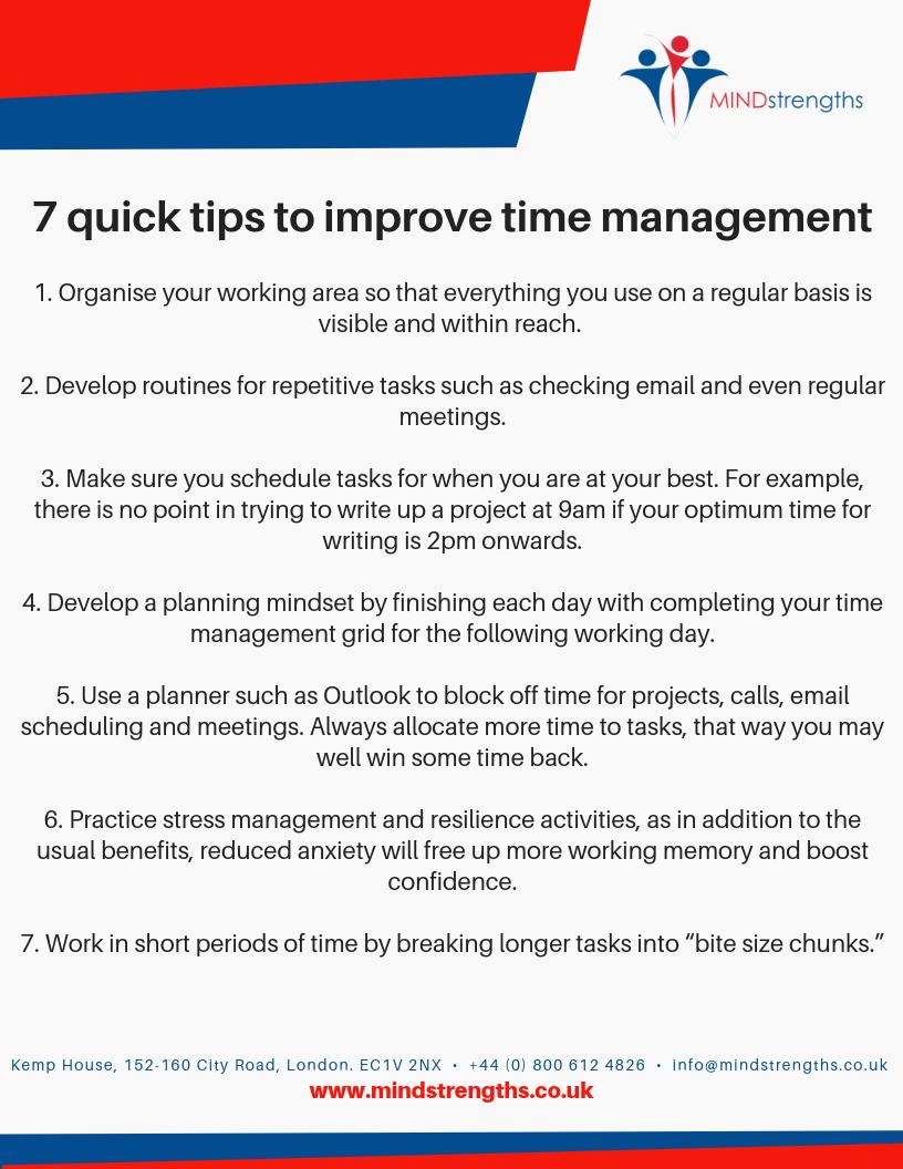 7 Tips for Time Management, Mind Strengths, Teamwork, Business, Coach, Mentor, Kent, London, Lincolnshire