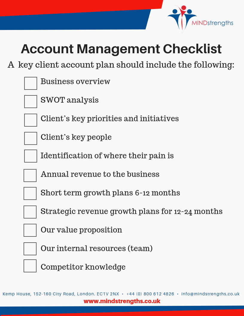 Account Management Checklist, Behaviour, behaviour types, Mind Strengths, Teamwork, Business, Coach, Mentor, Kent, London, Lincolnshire