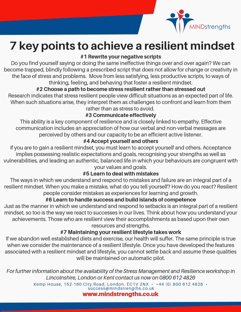 7 Key Points, Resilience, Mindset, download, Mind Strengths, Teamwork, Business, Coach, Mentor, Kent, London, Lincolnshire