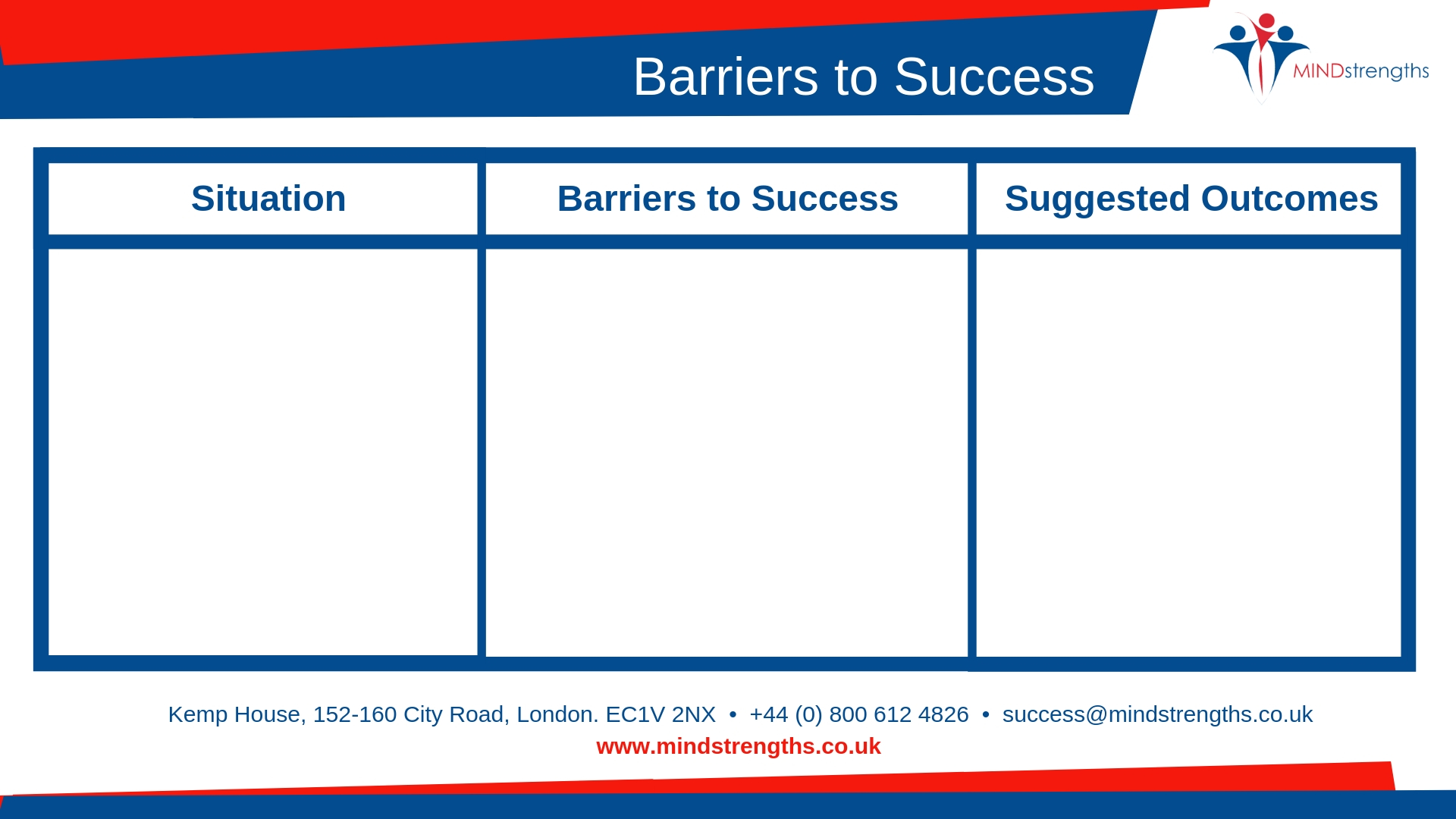 Barriers to Success, Worry diary, resilience, anxiety diary, download, Mind Strengths, Teamwork, Business, Coach, Mentor, Kent, London, Lincolnshire